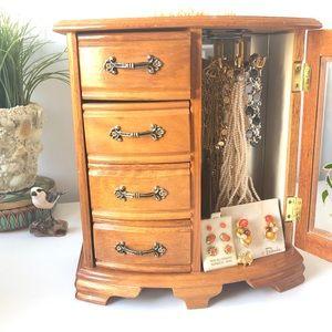Jewelry Box + Jewelry Vintage Wood Box